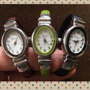Set of 3 Geneva Hinged Watches